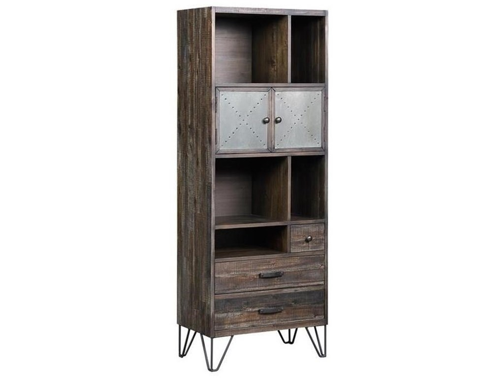 Coast to Coast Imports Aspen Court VintageTwo Door Three Drawer Bookcase/Pier
