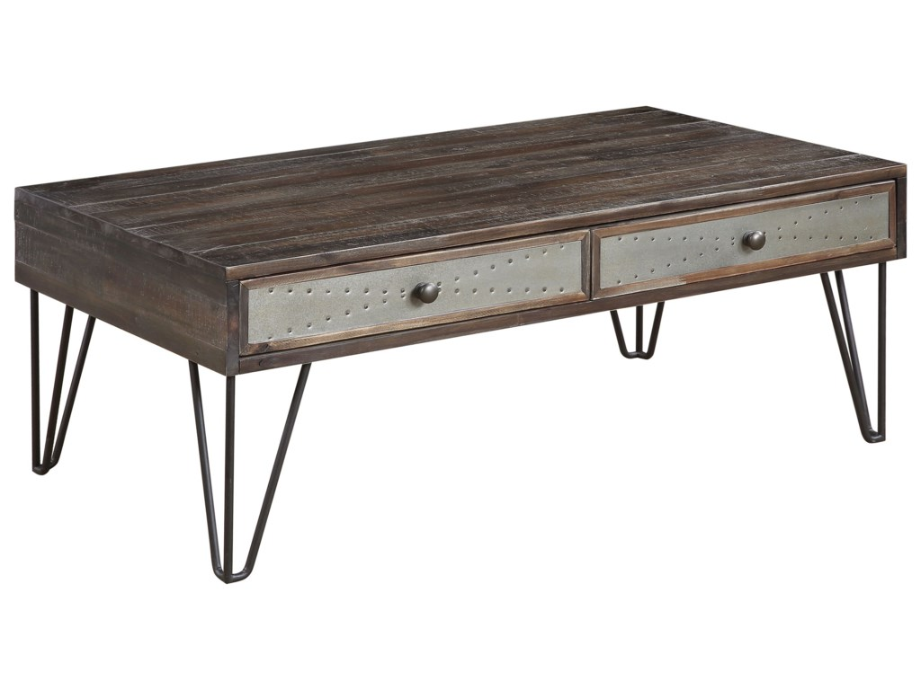 Coast to Coast Imports Aspen Court Vintage2-Drawer Cocktail Table