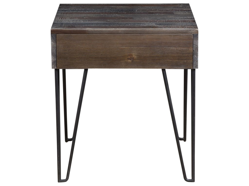 Coast to Coast Imports Aspen Court Vintage1-Drawer End Table