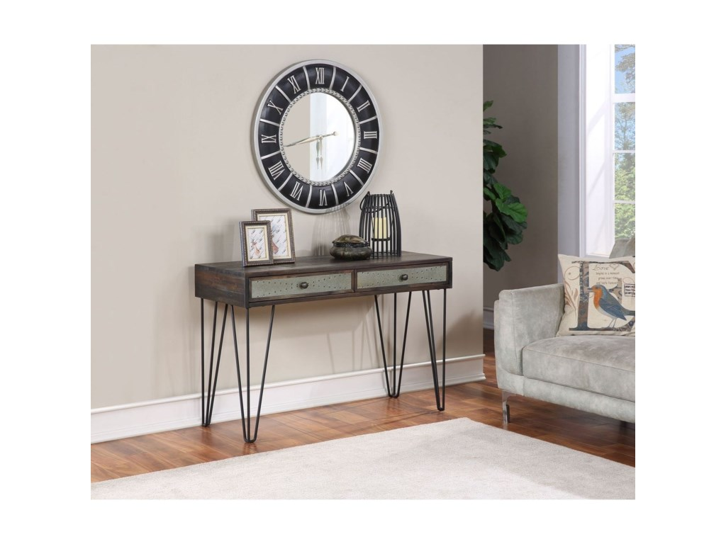 Coast to Coast Imports Aspen Court Vintage2-Drawer Console