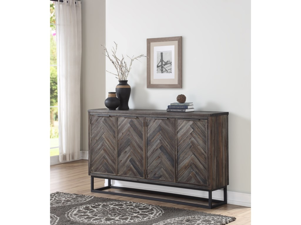 Coast to Coast Imports Aspen CourtFour Door Media Credenza
