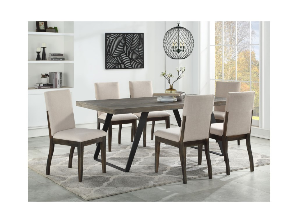 Coast to Coast Imports Aspen Court7-Piece Table and Chair Set