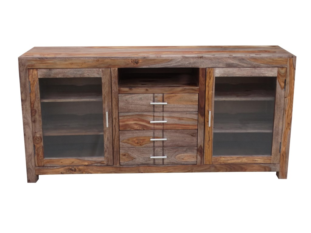 Coast to Coast Imports Accents4-Drawer 2-Door Credenza