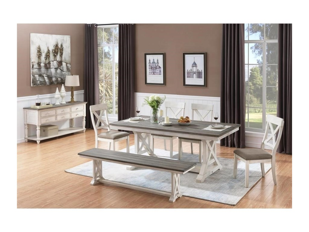 Coast to Coast Imports Bar Harbor IIFormal Dining Room Group