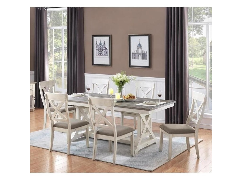 Coast to Coast Imports Bar Harbor II7-Piece Table and Chair Set
