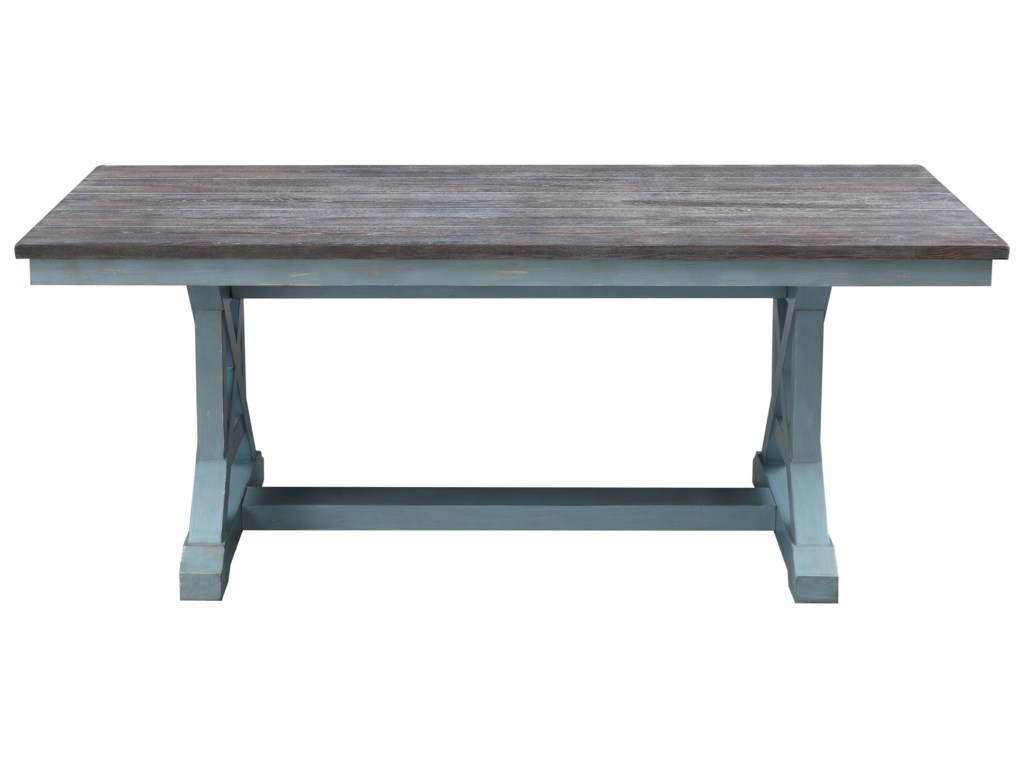 Bar Harbor Two Tone Rectangular Trestle Dining Table By Coast To Imports At Becker Furniture World