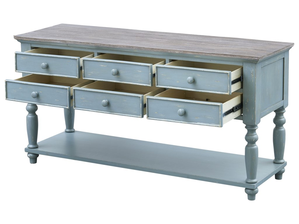 Coast to Coast Imports Bar Harbor6-Drawer Console Table