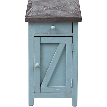 1-Drawer, 1-Door Chairside Cabinet