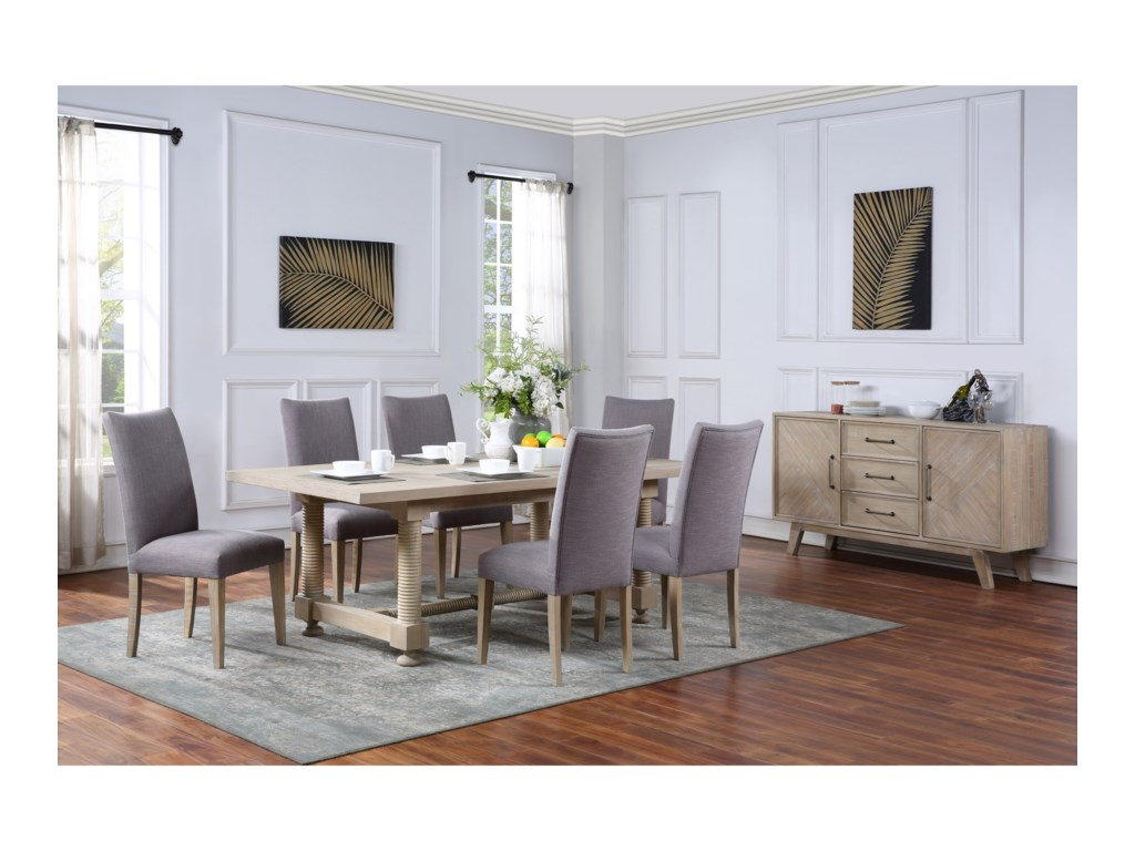 Coast to Coast Imports Barrister7-Piece Table and Chair Set
