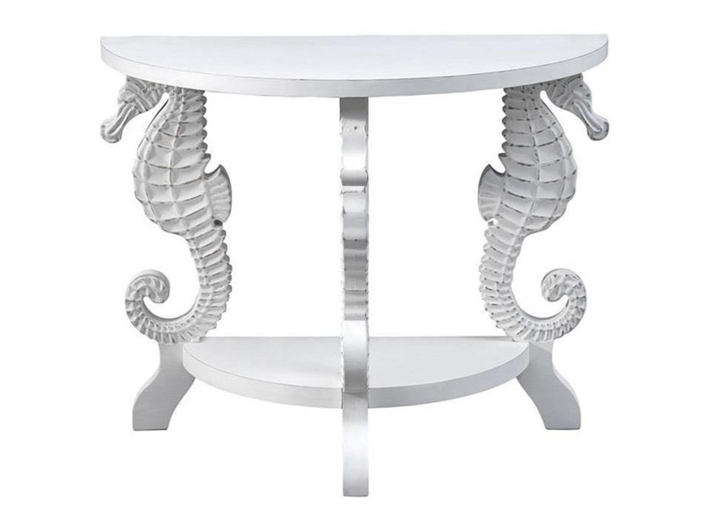Coast to Coast Imports Pieces in ParadiseDemilune Console Table