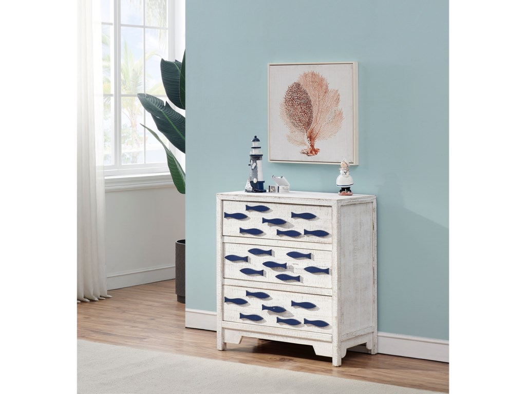 Coast to Coast Imports Pieces in Paradise3-Drawer Chest