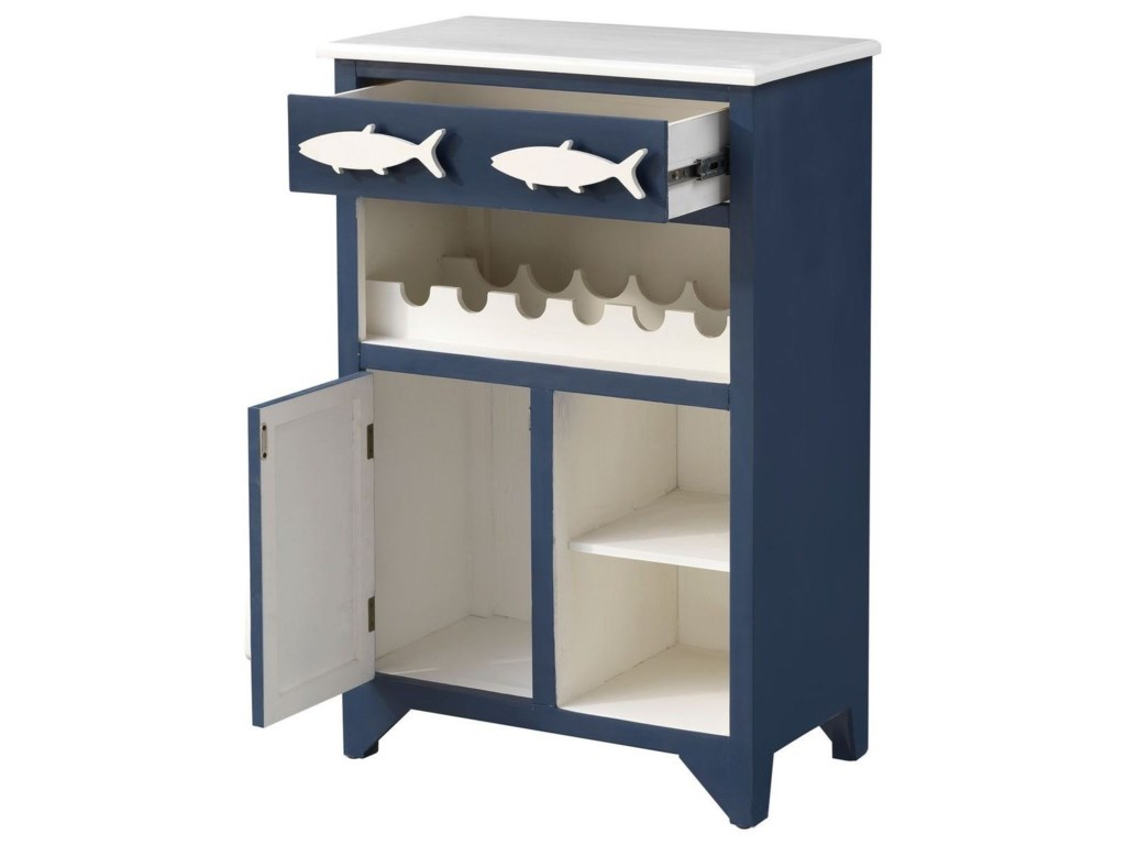 Coast to Coast Imports Pieces in Paradise1-Drawer, 1-Door Wine Server