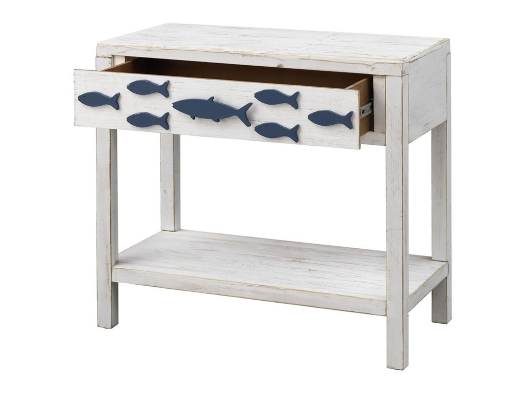 Coast to Coast Imports Pieces in Paradise1-Drawer Accent Table