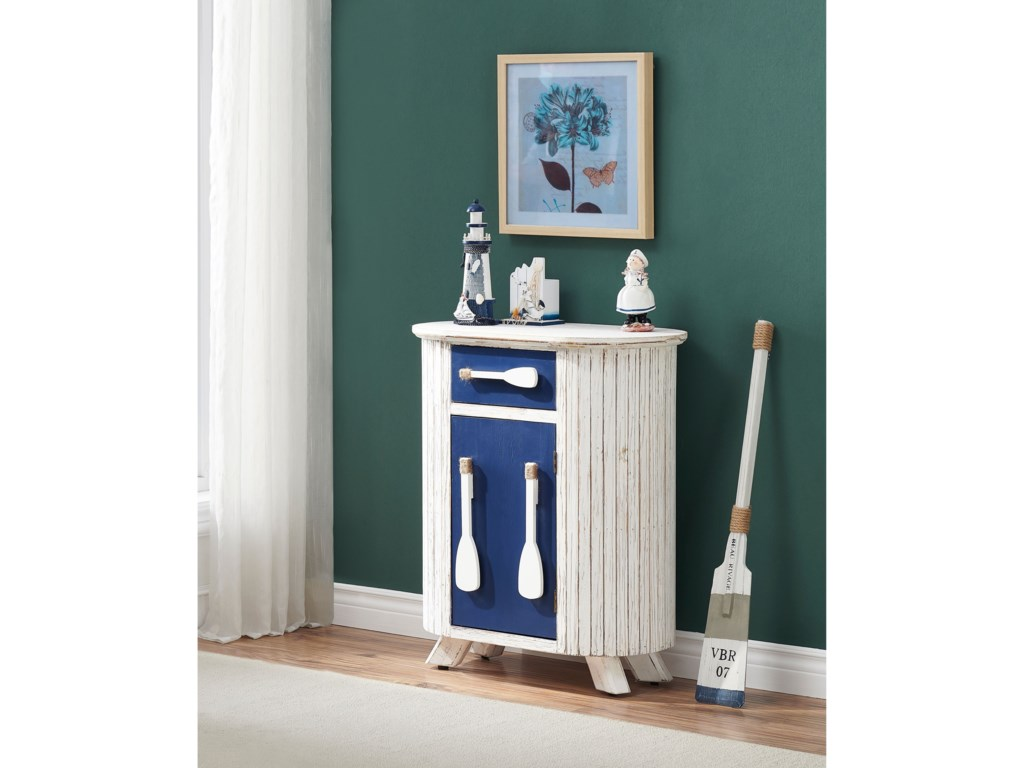 Coast to Coast Imports Pieces in Paradise1-Drawer, 1-Door Accent Cabinet