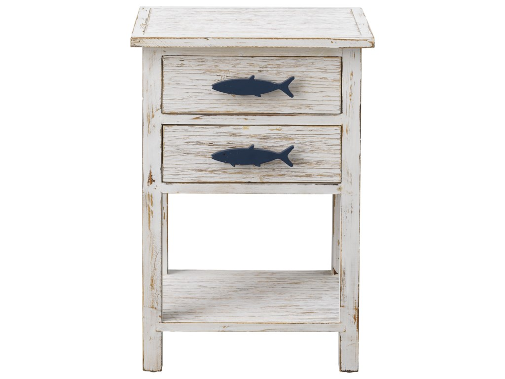 Coast to Coast Imports Pieces in Paradise2-Drawer Accent Table
