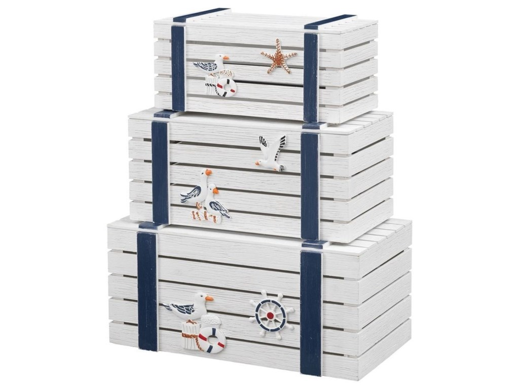 Coast to Coast Imports Pieces in Paradise3-Piece Nesting Trunks