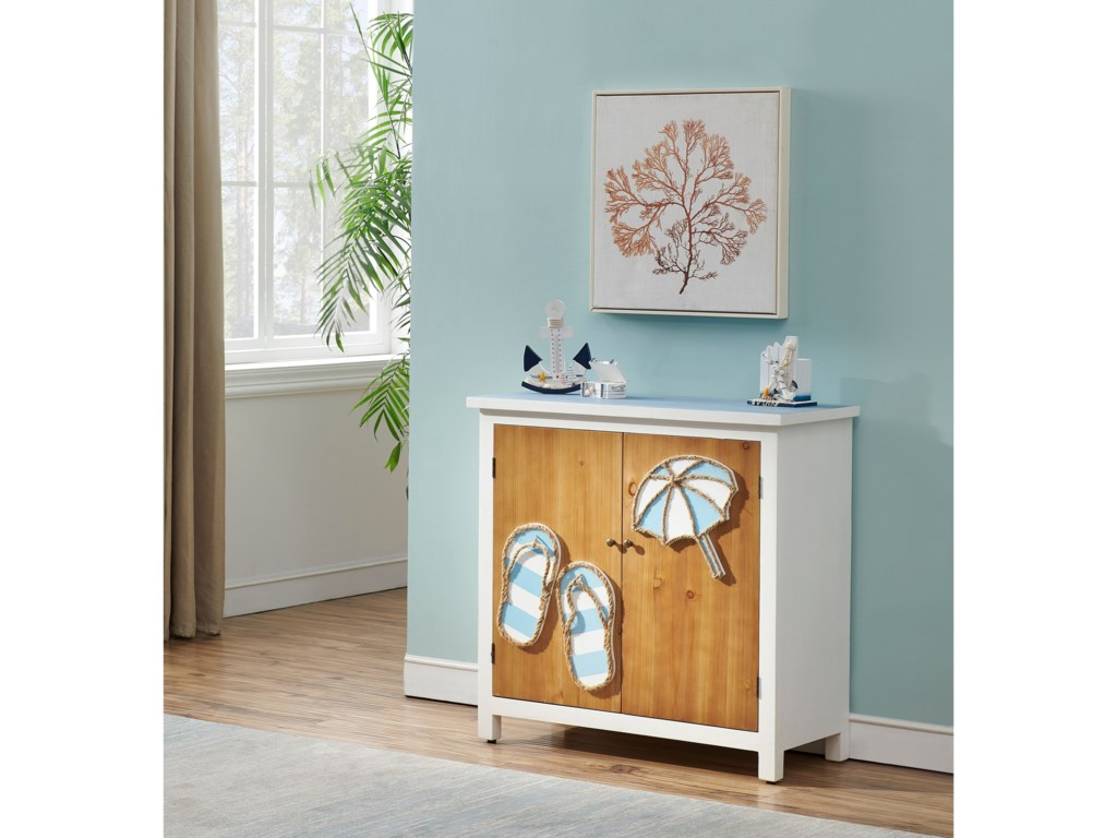 Coast to Coast Imports Pieces in Paradise2-Door Cabinet