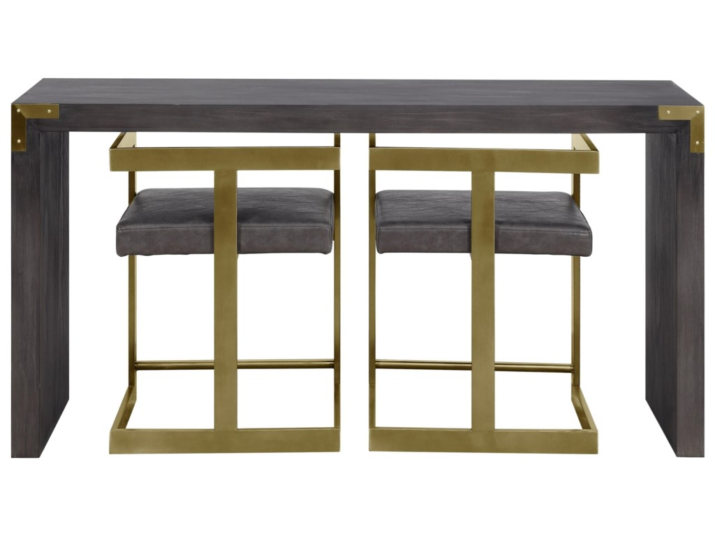 Coast to Coast Imports Beacon HillConsole Table with Two Stools