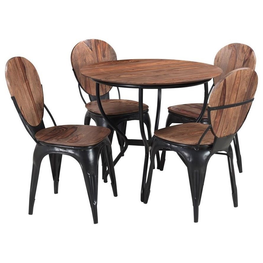 Industrial 5-Piece Dining Set