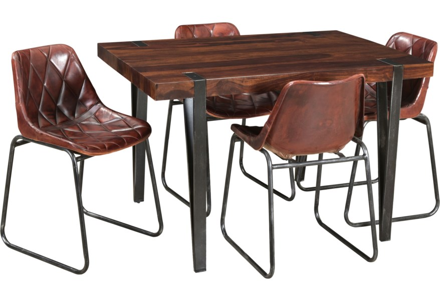Kaleidoscope Bradley Mid Century Modern Table And Side Chair