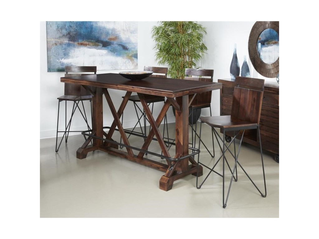 Coast to Coast Imports Braxton5-Piece Pub Table and Stool Set
