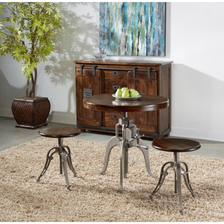 3-Piece Adjustable Pub Table and Chair Set
