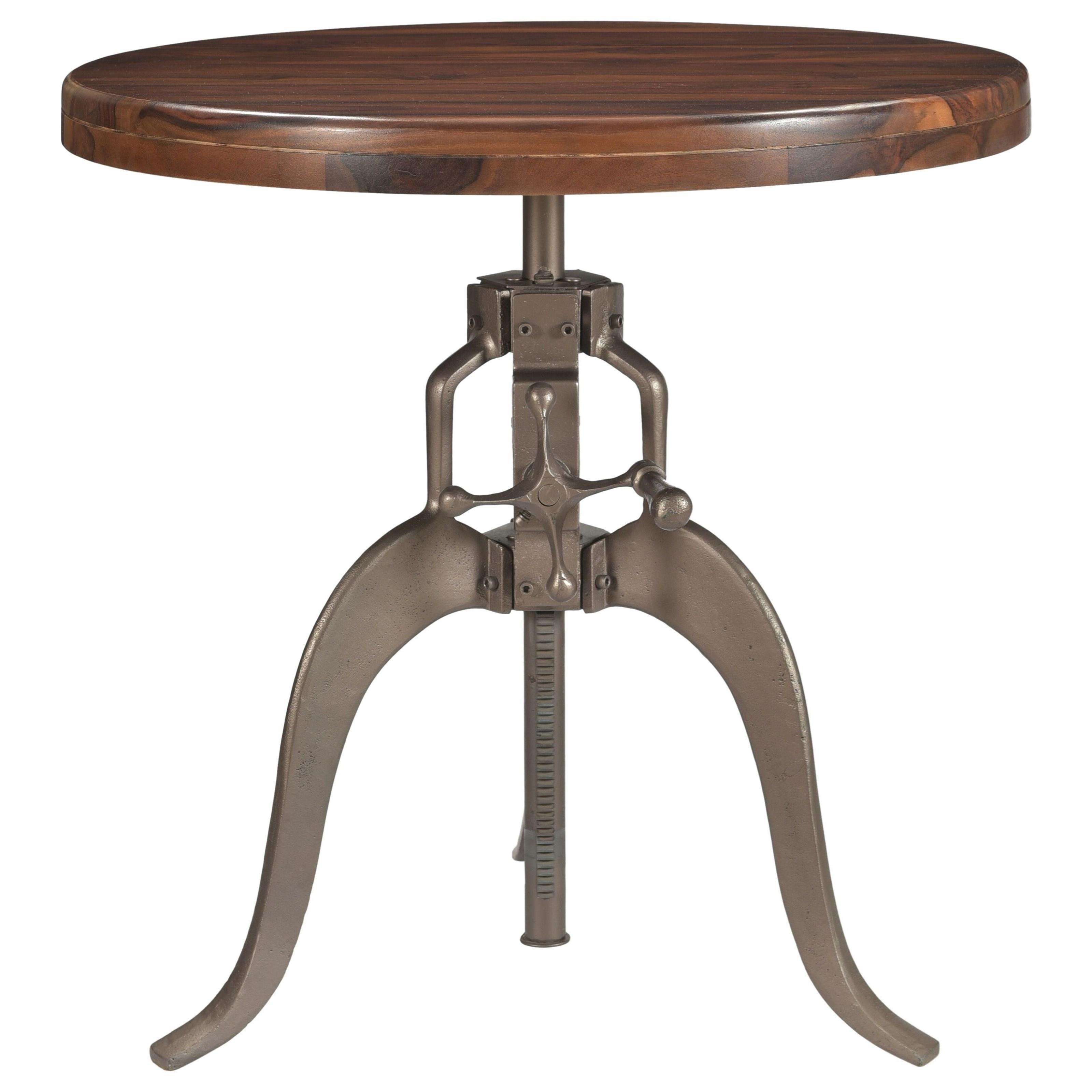 Industrial Round Adjustable Pub Table