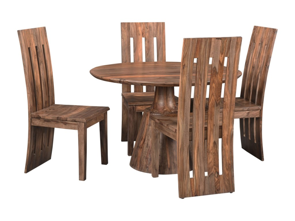 Coast to Coast Imports Brownstone5-Piece Table and Chair Set