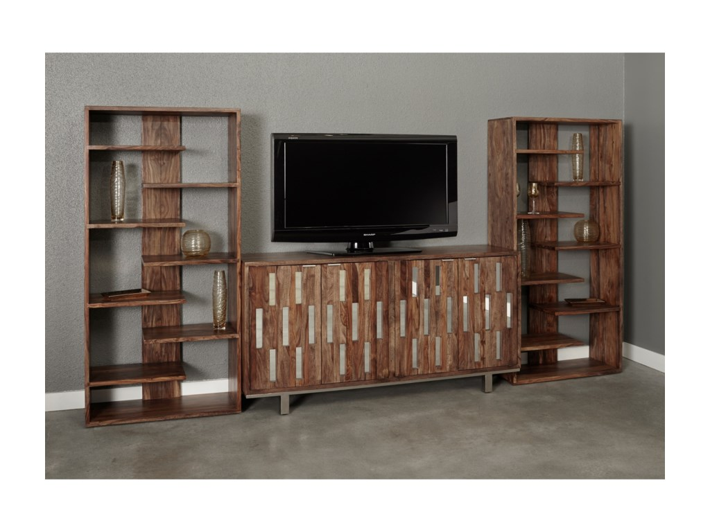 Coast to Coast Imports BrownstoneTV Wall Unit