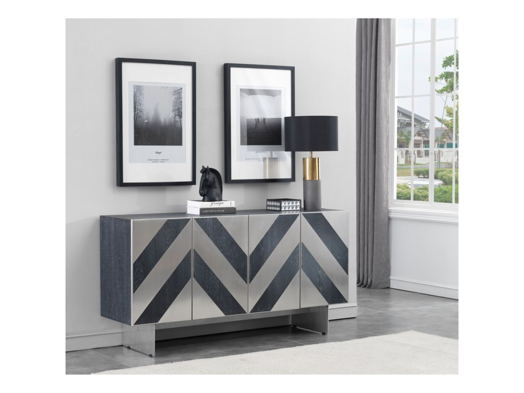 Coast to Coast Imports ChelseaFour Door Media Credenza