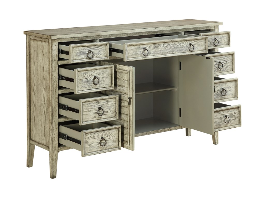 Coast to Coast Imports Coast to Coast AccentsNine Drawer Two Door Credenza
