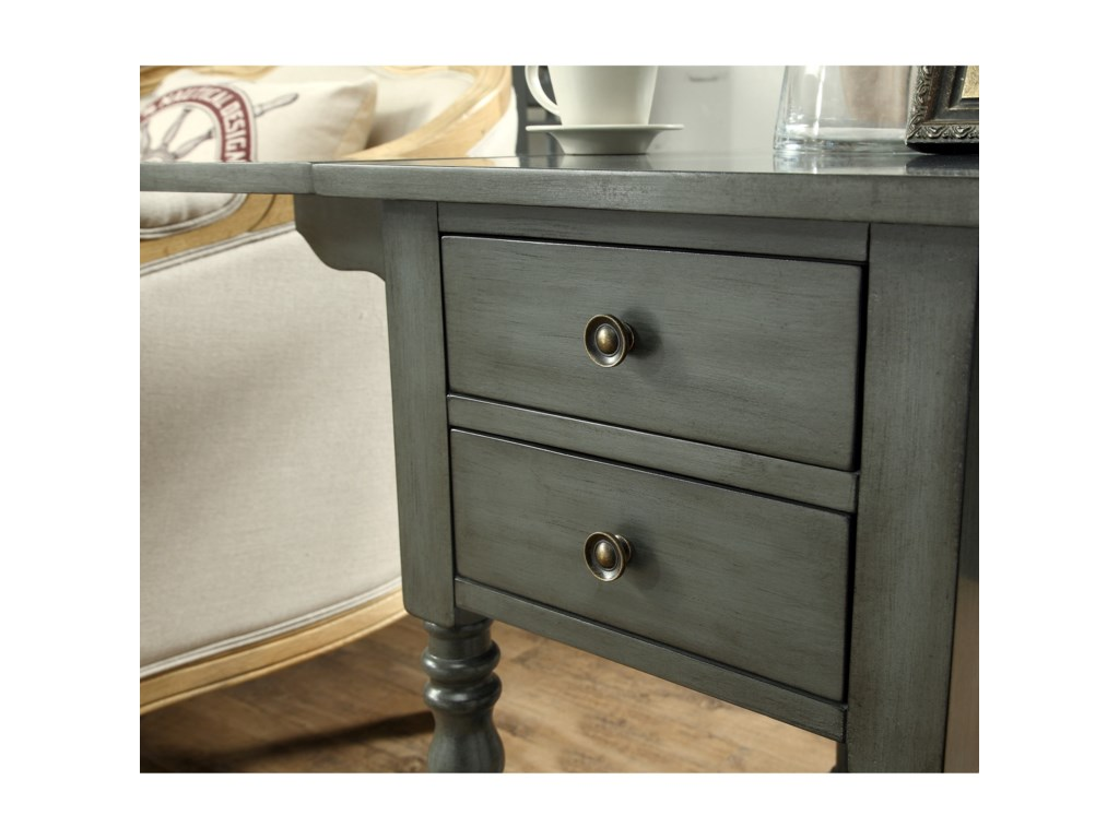 Coast to Coast Imports Coast to Coast AccentsDrop Leaf Two Drawer Accent Table
