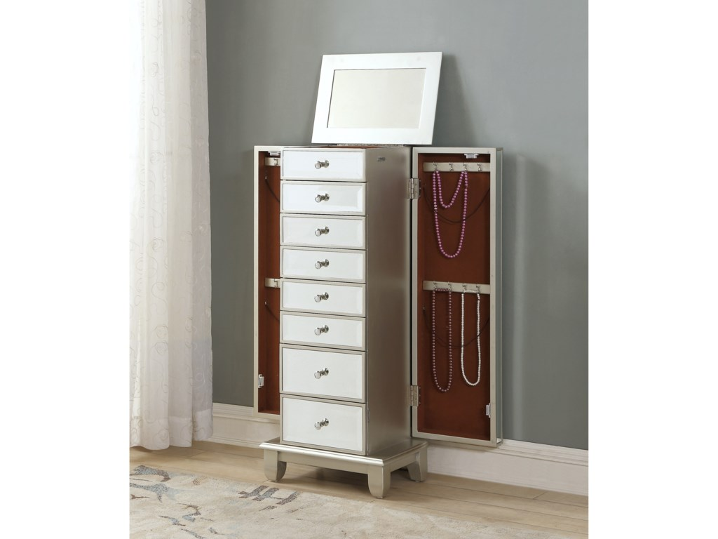 Coast to Coast Imports Coast to Coast AccentsTwo Door Seven Drawer Jewelry Armoire