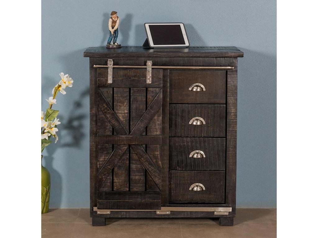 Coast to Coast Imports Coast to Coast AccentsFour Drawer 1 Sliding Door Cabinet
