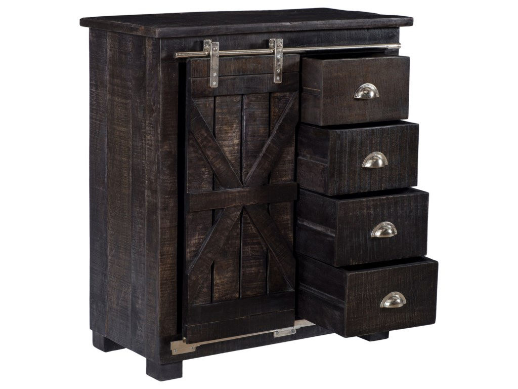 Coast to Coast Imports Coast to Coast AccentsFour Drawer 1 Sliding Door Cabinet