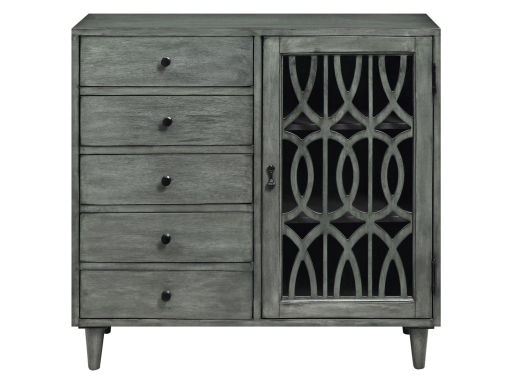 Coast to Coast Imports Coast to Coast AccentsOne Door Five Drawer Cabinet