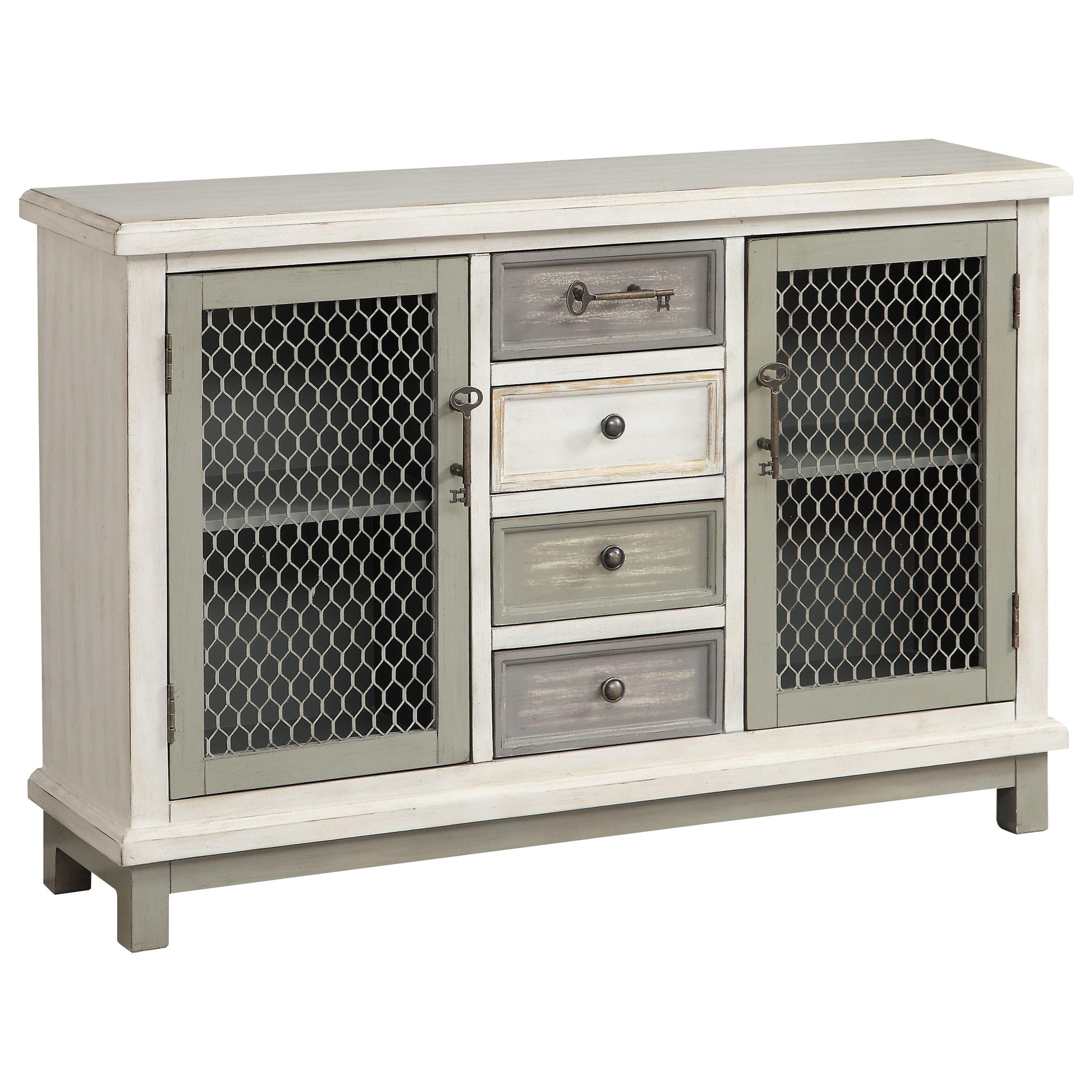 Two Door Four Drawer Credenza