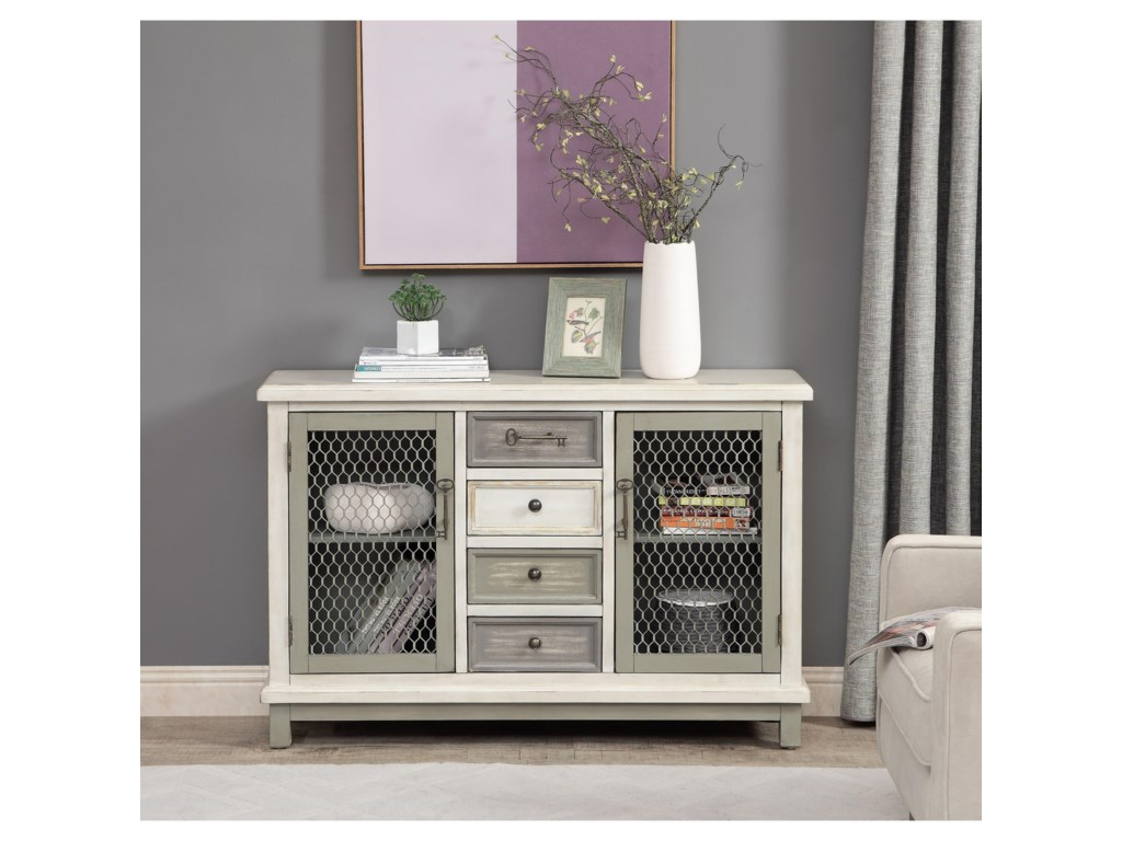 Coast to Coast Imports Coast to Coast AccentsTwo Door Four Drawer Credenza
