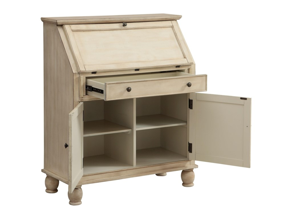 Coast to Coast Imports Coast to Coast AccentsTwo Door One Drawer Drop Lid Cabinet