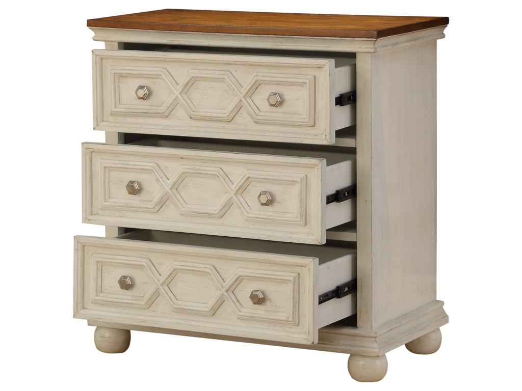 Coast to Coast Imports Coast to Coast AccentsThree Drawer Chest w/ Power