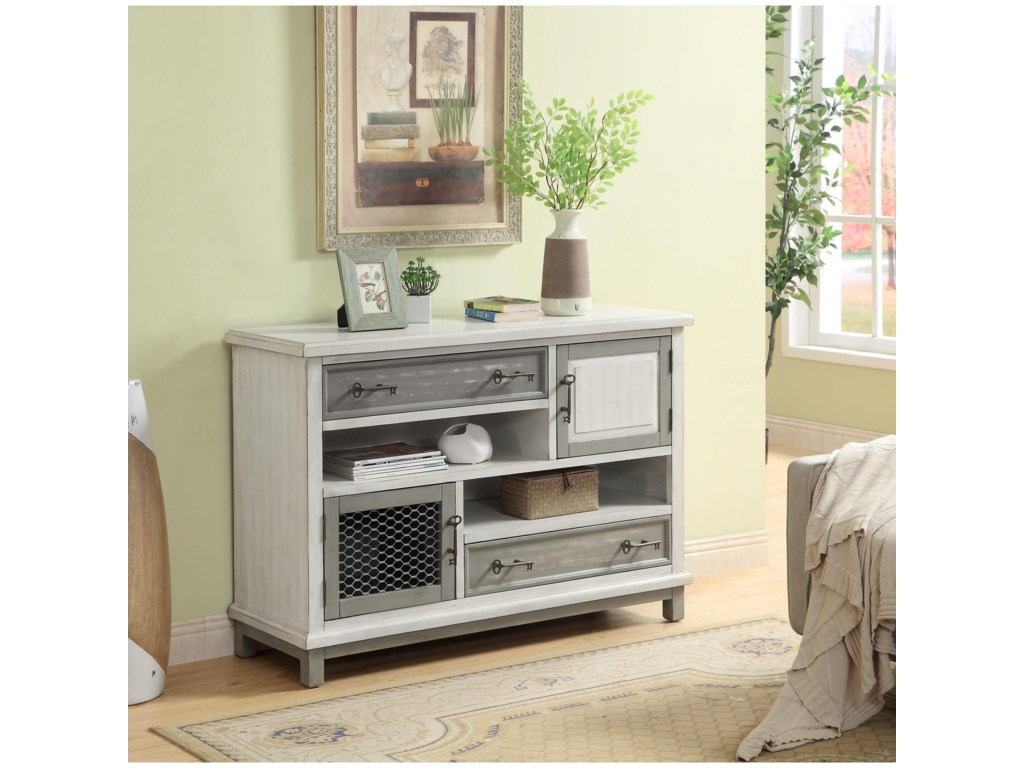 Coast to Coast Imports Coast to Coast AccentsTwo Drawer Two Door Media Credenza