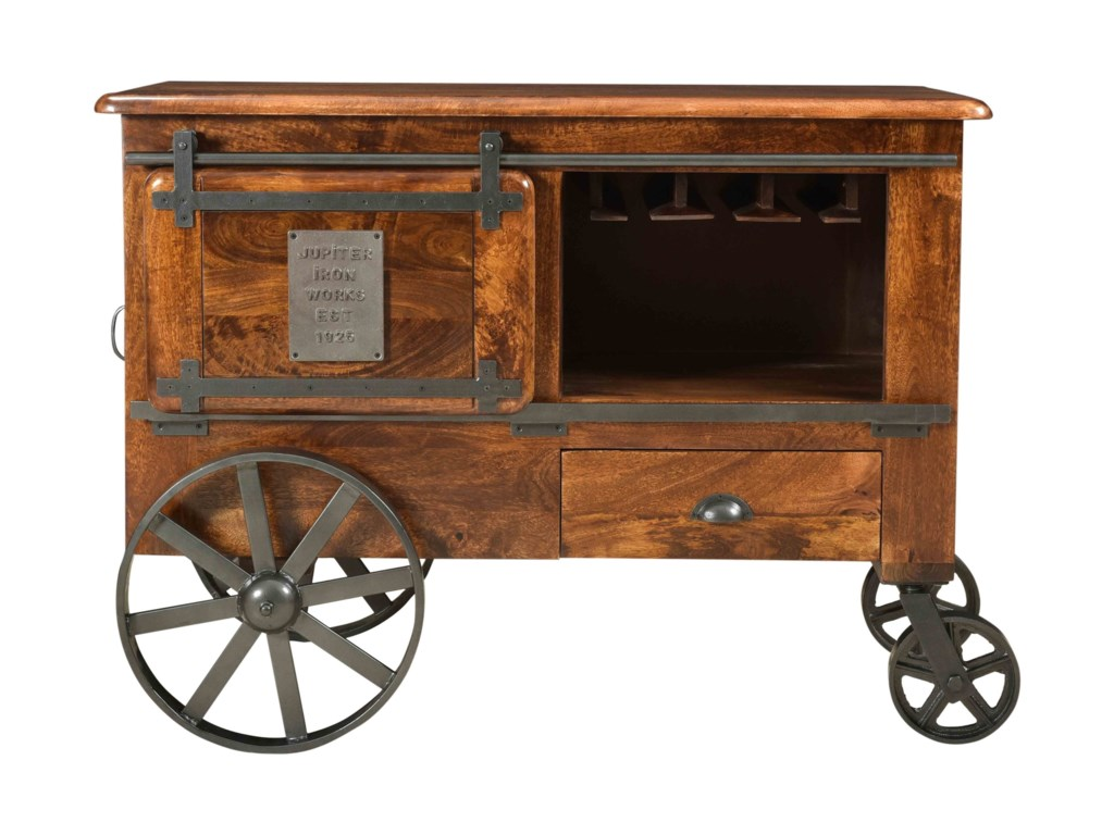 Coast to Coast Imports asdfTwo Door One Drawer Wine Cart