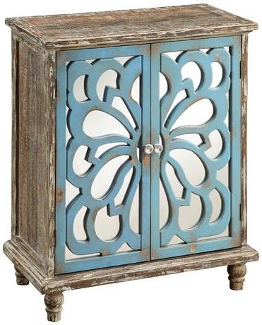 Coast to Coast Imports Coast to Coast Accents Rustic 2 Door Cabinet with Interior Shelf