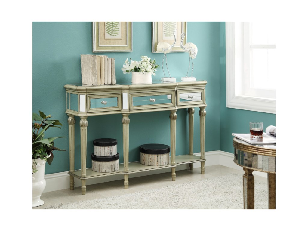 Coast to Coast Imports Coast to Coast AccentsThree Drawer Console Table