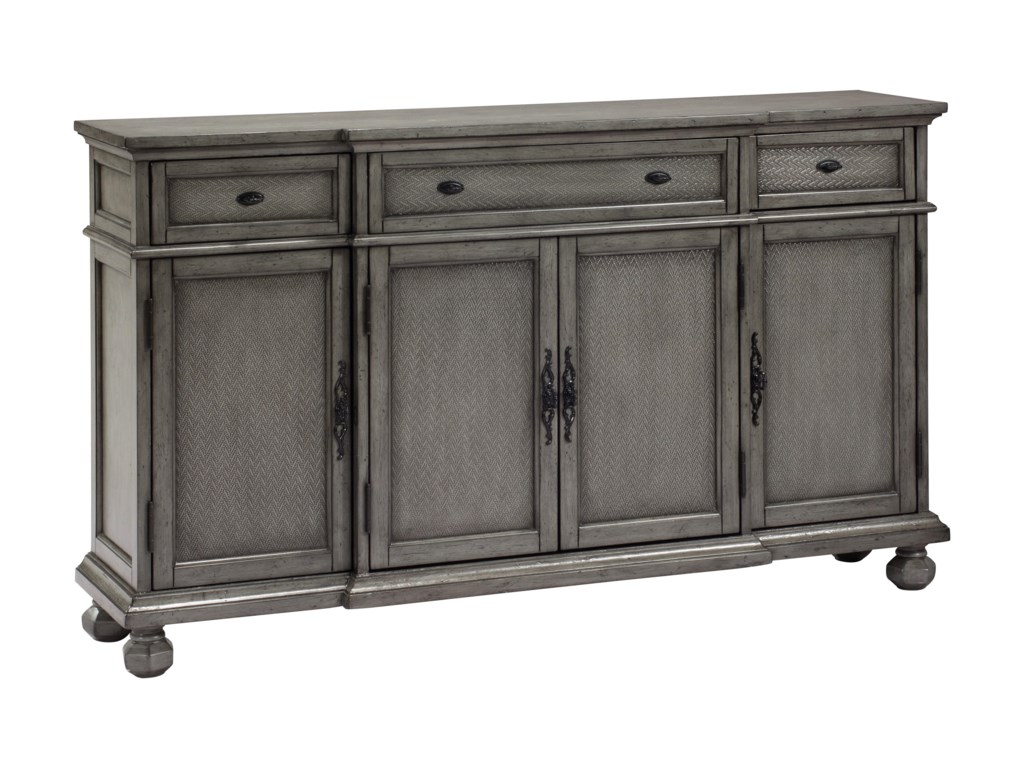 Coast to Coast Imports Coast to Coast AccentsThree Drawer Four Door Credenza