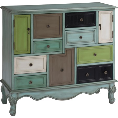 Nine Drawer Two Door Cabinet