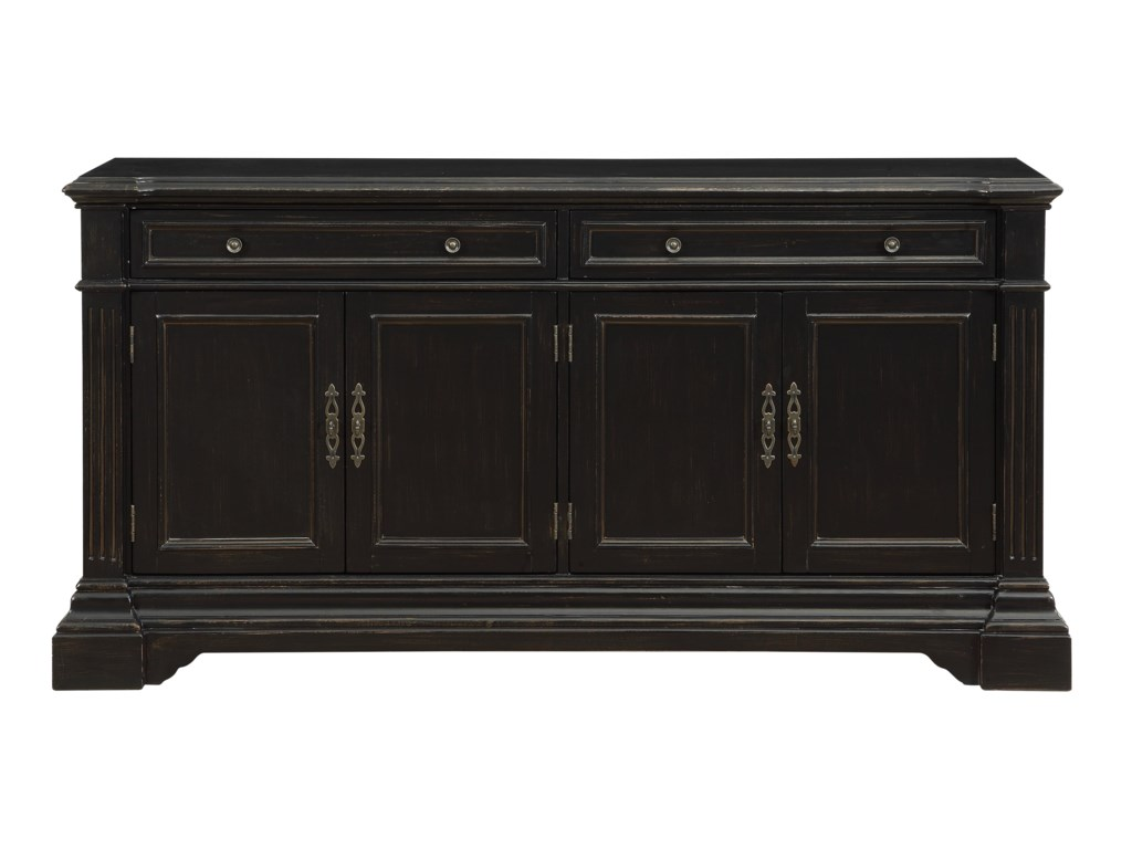 Coast to Coast Imports Coast to Coast AccentsTwo Drawer Four Door Media Credenza