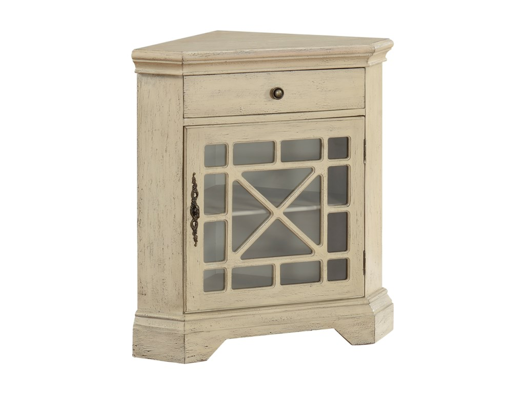 Coast to Coast Imports Coast to Coast AccentsOne Drawer One Door Corner Cabinet