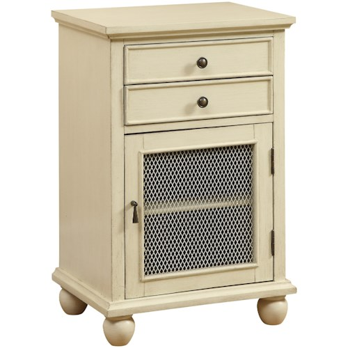 Coast to Coast Imports Coast to Coast Accents Two Drawer One Door Cabinet