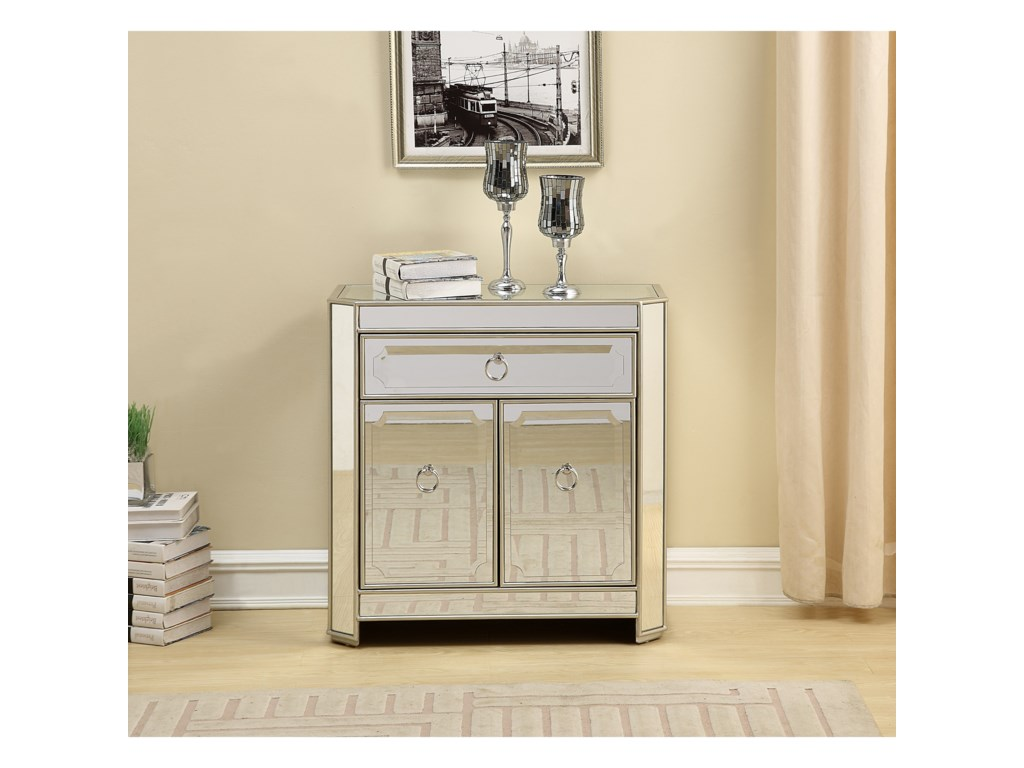 Coast to Coast Imports Coast to Coast AccentsOne Drawer Two Door Cabinet